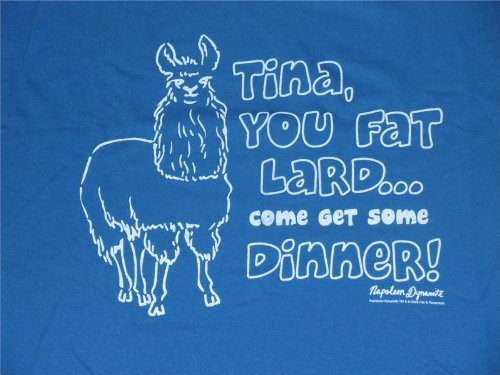 Napoleon Dynamite Tina you Fat Lard T-shirt Blue (Shirt Napoleon Movie Dynamite)