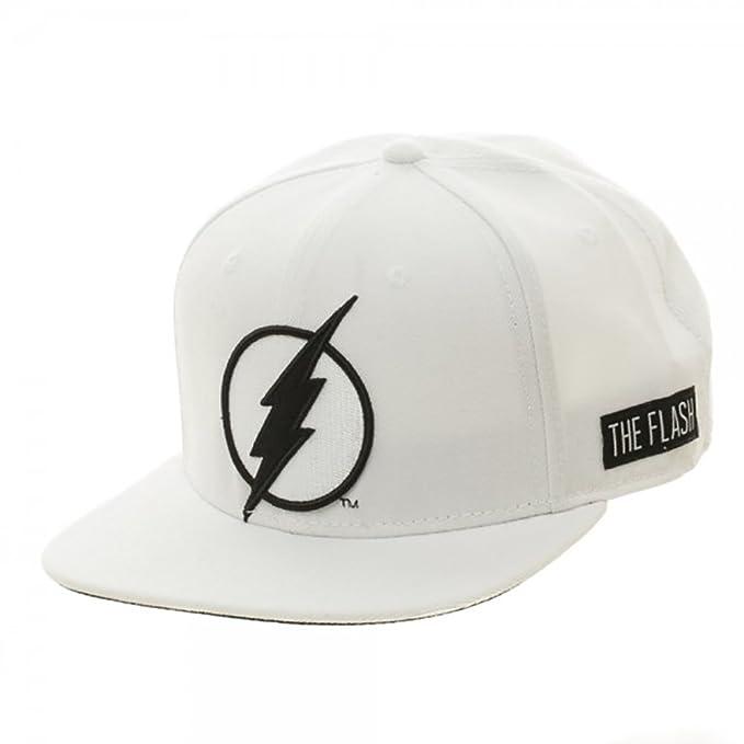 174142a96b2 DC Comics The Flash Logo Black on White Snapback Hat  Amazon.ca  Clothing    Accessories