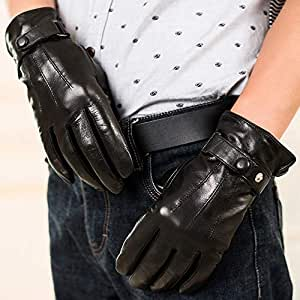 Amazon.com : Agelec Men's Driving Leather Gloves Autumn