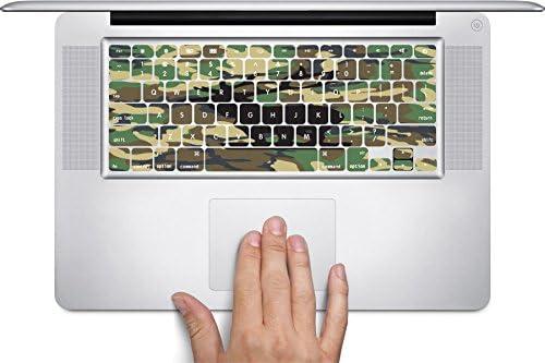 Elk Deer Black on Camo Camouflage Keyboard Decals by Moonlight Printing for 11 inch MacBook Air