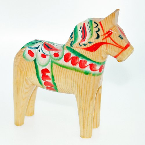 Scandinavian Natural - Swedish Wooden Dala Horse - Natural - 4