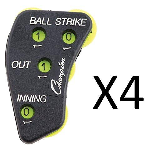Champion Sports Counter Baseball Softball Umpire Indicator Clicker (4-Pack)