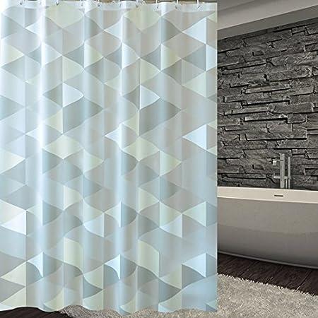 ZnzbztEl hotel wc resistente al agua caliente contra el moho con mampara de ducha cortina de