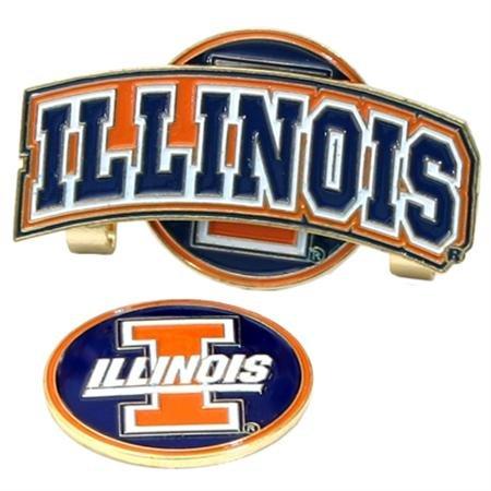 Illinois Fighting Illini Slider Hat Clip W/ Golf Ball Marker - NCAA College Athletics   B000Q6XN66