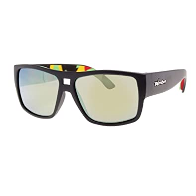 2ea6a38cd98 Image Unavailable. Image not available for. Color  BOMBER IRIE-BOMBS MATTE  BLACK Frame YELLOW MIRROR Lens 4 base 56mm Sunglasses
