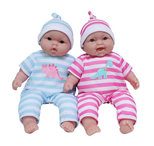 JC Toys Lots to Cuddle Babies, 13-Inch Baby Soft Doll Soft Body Twins, Designed by Berenguer (Happy Ever After Dolls)