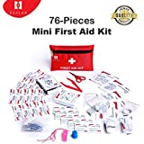 First aid kit, Defler 230pcs First Aid Kit for emergency and survival situations. Ideal for the Car, Camping, Hiking, Travel, Office, Sports, Pets, Hunting, Home …