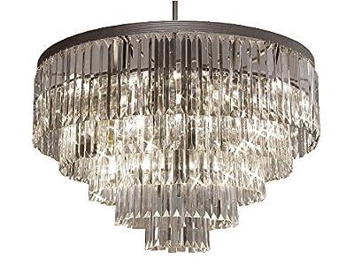 Odeon Empress Crystal (tm) Glass Fringe 5-tier Chandelier Chandeliers Lighting