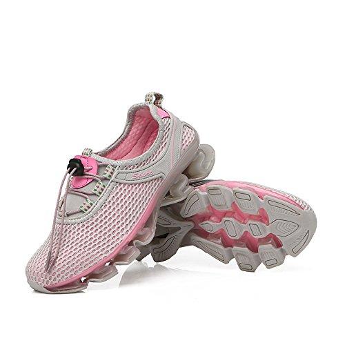 Casual KUBUA Breathable Pink Trainers Shoes Performance Sport Mesh On Running Womens Mens Walking Slip Womens CqwqUt
