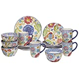 Certified International Corp 89115 San Marino Dinnerware Set, Multicolor