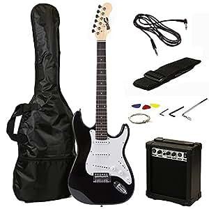 rockjam 6 st style electric guitar super pack with amp gig bag strings strap. Black Bedroom Furniture Sets. Home Design Ideas