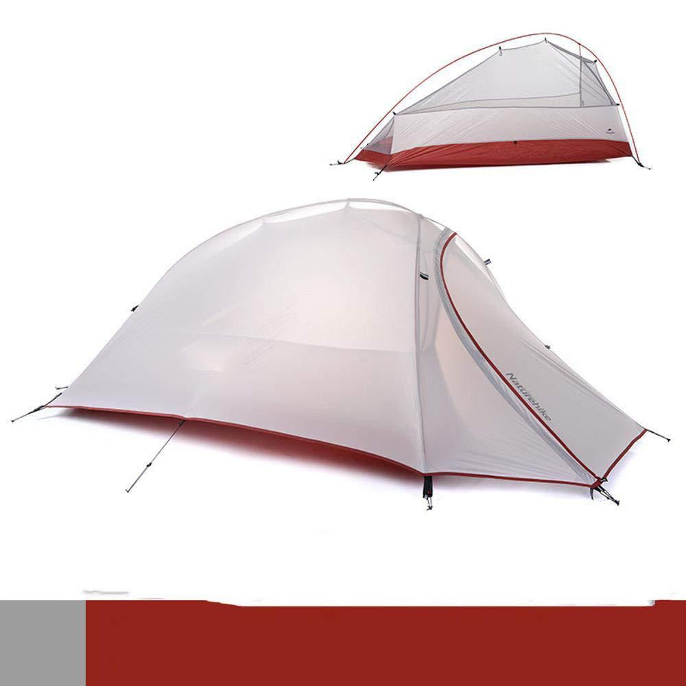 Lxj Outdoor-Zelt im Freien Regen Sturm Camping Camping Vier Jahreszeiten Aluminium Pole doppelt Zelt 2180 + 50  120  h110cm