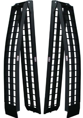 Titan Pair of 10' Long Folding Aluminum Arch ATV Ramps