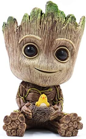 Groot Planter Pot Succulents Flowerpot Baby Groot Bird Nest Shaped Guardians of The Galaxy-Action Figure for Plants Pens Holder, I AM Groot – Perfect Gift for Friends Kids Family