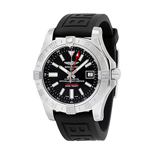 Breitling Avener II GMT Black Dial Black Rubber Mens Watch A3239011-BC35BKPT3