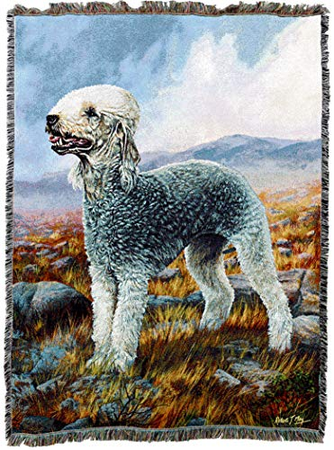 Pure Country Weavers Grande - Pure Country Weavers - Bedlington Terrier Woven Tapestry Throw Blanket with Fringe Cotton USA Size 72 x 54