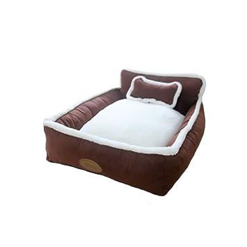 AUOON Cama de Mascota Suave y Lavable tamaño Mediano caseta Nido Perro Lindo casa cojín sofá