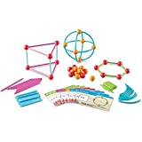 Students will gain hands-on experience with this geometric shape-building set. 129-piece set includes: 60 sticks in 3 sizes, 20 curves, 34 connectors, and 15 double-sided activity cards. Supports academic state standards in geometry.