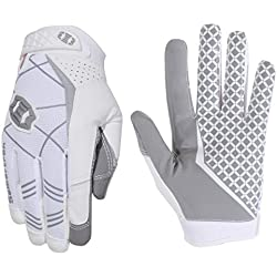 Seibertron Pro 3.0 Elite Ultra-Stick Sports Receiver Glove Football Gloves Youth and Adult (White, XXS)