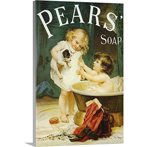 Pears Soap - Vintage Advertisement Canvas Wall Art Print, 24