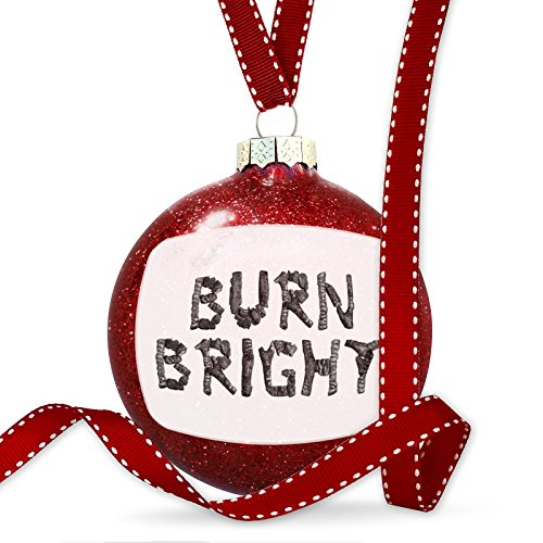 Christmas Decoration Burn Bright Coal Grill Fire Place Ornament by NEONBLOND