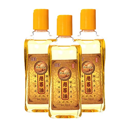 3pcs 230mL Lymphatic Drainage Ginger Oil, Natural Ginger Oil Massage Scrubbing Oil Promote Blood Circulation, Relieve Muscle Soreness