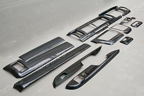 【ハイエース 200系 4型 ワイド】 S-GL インテリアパネル 16p カーボン調 B00OTAXVV2