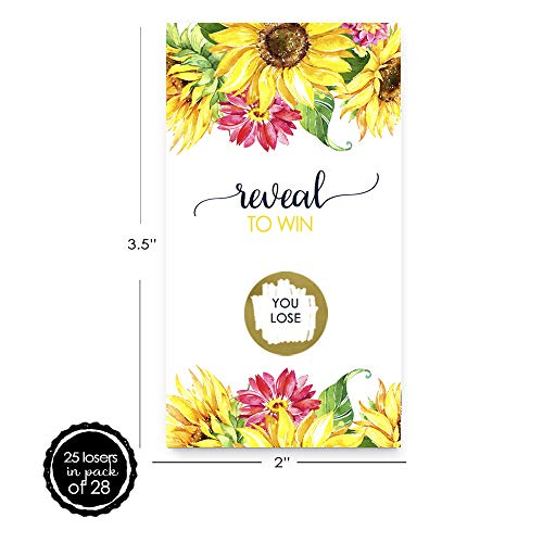 Bright Floral Scratch Off Game Cards (28 Pack) by Paper Clever Party (Image #2)