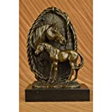 Beautiful Rare Hot Cast Superb Horse Trophy Bronze Bust Sculpture Statue Figure Signed Art