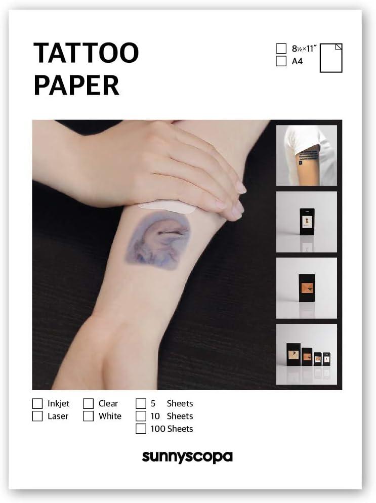 Amazon.com: Tatuaje Temporal sunnyscopa Inkjet imprimible 11 ...