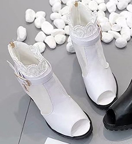 Aisun Dentelle Bouche Montant Sandales De Femme Blanc Poisson Mode rEtx7qgwr