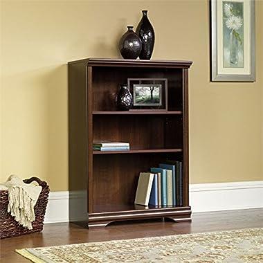 Sauder Carolina Estate 3-Shelf Bookcase, Select Cherry Finish