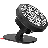 VAVA Magnetic Phone Holder for Car, Universal Stick On Dashboard Magnetic Car Phone Mount (360° Adjustable Holder with 3M Adhesive Covering and Two Metal Plates; Quick and Easy Installation)