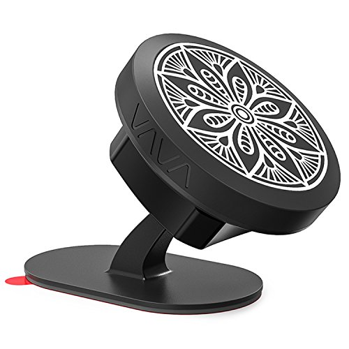 VAVA Magnetic Phone Holder for Car, Universal Stick On Dashboard Magnetic Car Phone Mount (360° Adjustable Holder with 3M Adhesive Covering and Two Metal Plates; Quick and Easy Installation) by VAVA