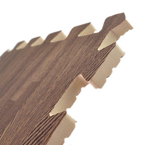 Aspire 36 Sqft 36 Tiles Wood Grain Interlocking Foam Mats
