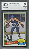 1980-81 o-pee-chee #289 MARK MESSIER edmonton oilers rookie card BGS BCCG 9 Graded Card