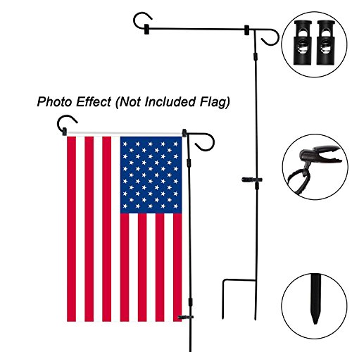 HOOSUN Garden Flag Stand Holder Pole Easy to Install Strong