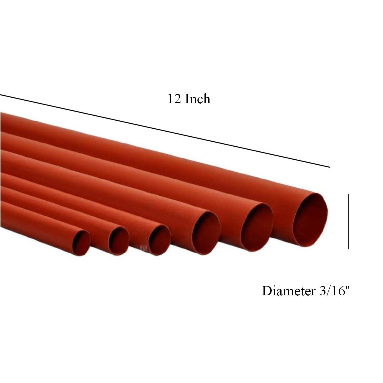 10 x Heat Shrink Tubing 12 x 3//16 Flame Retardant Electric Wire Cable Sleeving