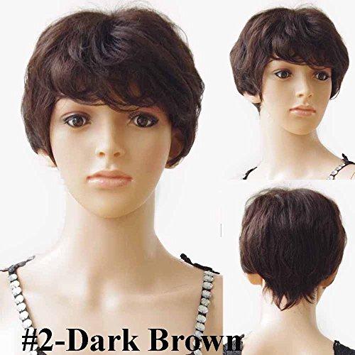 S-noilite 100% Remy Human Hair Wigs Short Pixie