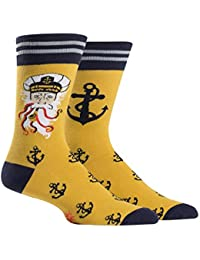 Sea Captain, Men's Crew Socks, Anchor Socks