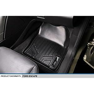 MAXFLOORMAT Floor Mats 2 Row Set Black for 2013-2018 Ford Escape / C-Max