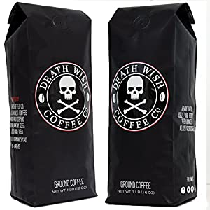 Death Wish Ground Coffee, Fair Trade and USDA Certified Organic from Death Wish Coffee
