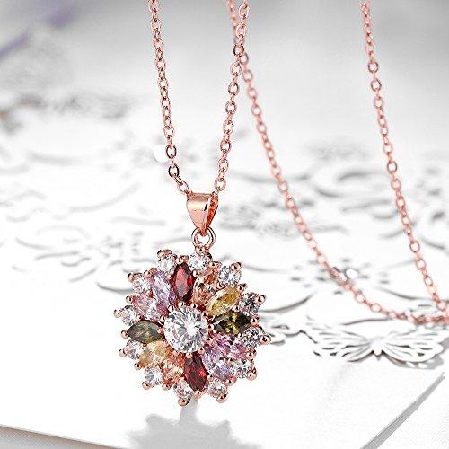Mona Lisa Plaqu/é Or Rose Kami Idea Bracelet 5A Magnifique Zircone Cadeaux Bijoux F/ête des M/ères Bo/îte /à Bijoux