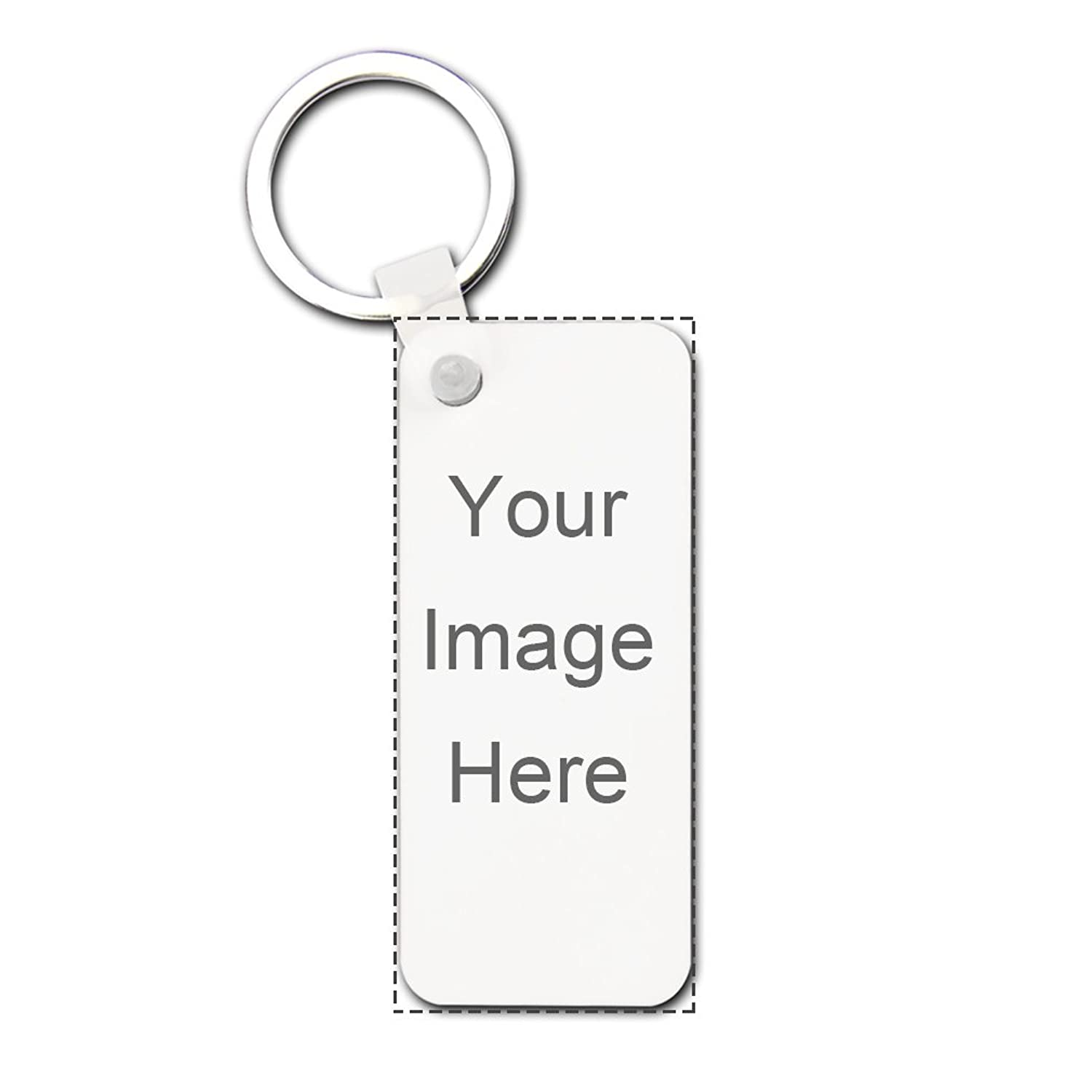 Design Prinablet photo or text Keychains Custom Personalized Hardboard Rectangle Keychains