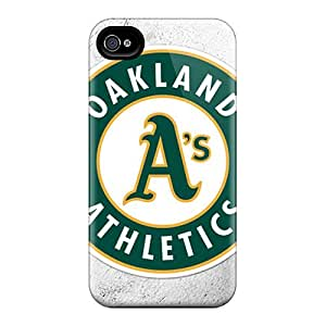 Excellent Hard Phone Cover For Iphone 4/4s (CBe5625sQHM) Support Personal Customs Vivid Oakland Athletics Image