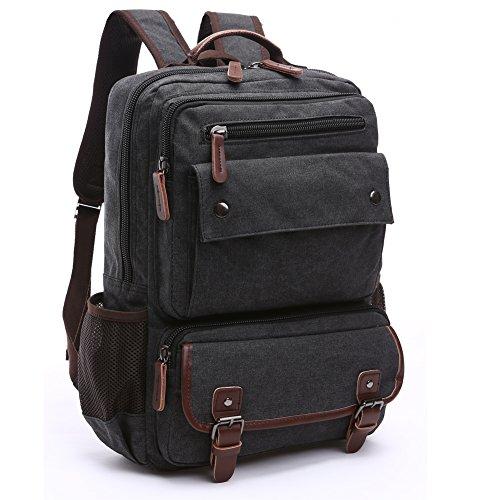 True Black Laptop Backpacks - 4