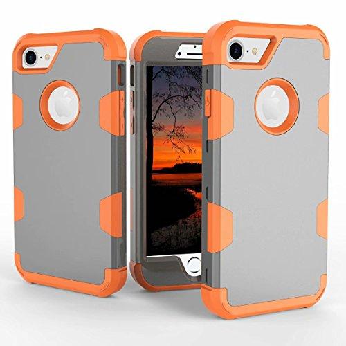 Mincol-us La Funda iPhone 7 / iPhone 8, la Funda es un chasis Resistente con PC y Silicona Suave para iPhone 7 / iPhone...