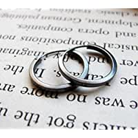 Small Unisex Huggie Earrings - Black Sterling Silver Hoops for Men - Men's Dark Silver Hoops - Unisex Jewelry - Mens Earrings - Mens Jewelry - Men's Earrings - Mens Hoops - Earrings for Men
