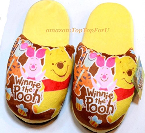 334caeecdd9d Authentic Disney Winnie The Pooh tigger Piglet Adult Soft Warm Slippers  Anti-Skid  Amazon.co.uk  Kitchen   Home
