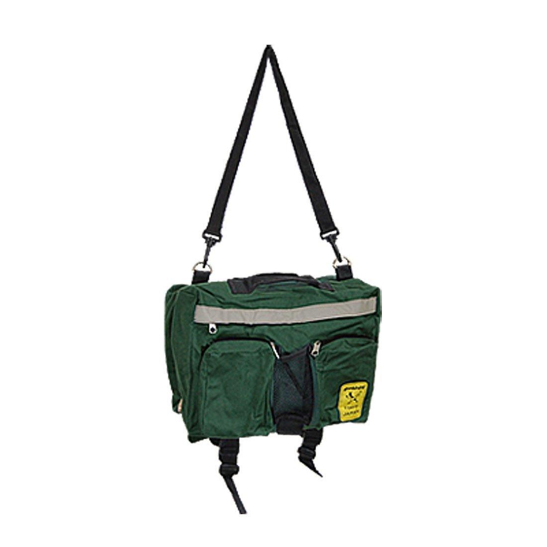 Uxcell Pet Puppy Dog Carrier Travel Saddle Bag Backpack Holder Dark Green